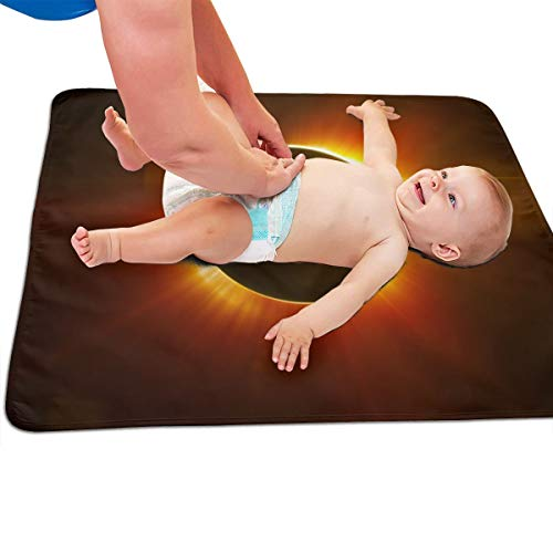 V5DGFJH.B Baby Portable Diaper Changing Pad Solar Eclipse Urinary Pad Baby Changing Mat 31.5