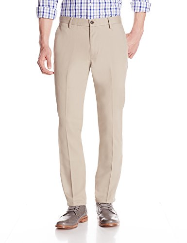 (Goodthreads Men's Slim-Fit Wrinkle-Free Dress Chino Pant, Khaki, 33W x 32L )