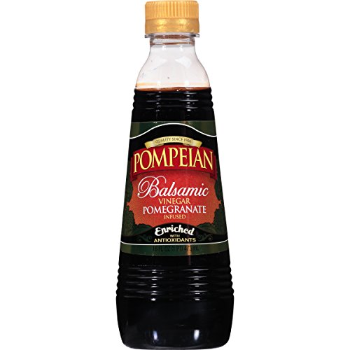 Pompeian Pomegranate Infused Balsamic Vinegar, 16 Ounce (Pomegranate Vinaigrette)
