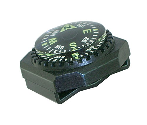 Sun Company Slip-On Wrist Compass - Easy-to-Read Compass for Watch Band or Paracord Survival (Compass Band)