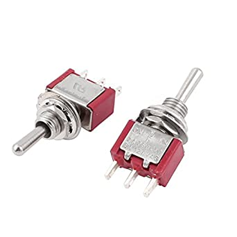 uxcell a15012300ux0163 spdt on off on 6 mm thread toggle switch 2 rh amazon com SPST Toggle Switch SPST Toggle Switch