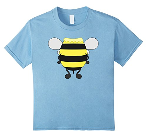 Kids Funny Honeybee Costume Shirt - Hilarious Bee Halloween Gift 8 Baby Blue