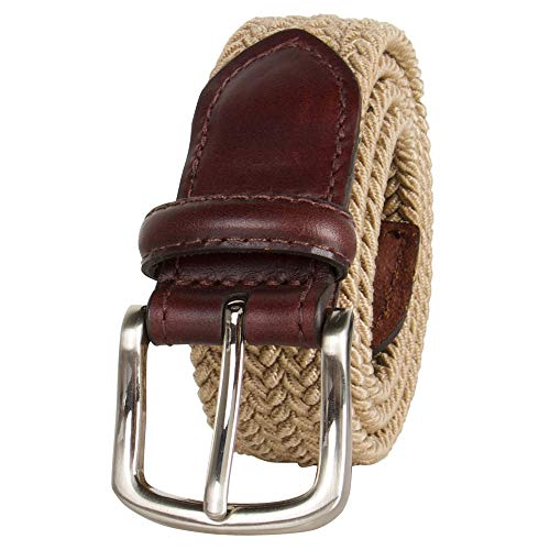 Dockers Big Boys' Braided Elastic-Web Stretch Belt