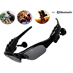 PHEVOS Bluetooth Sunglasses Headset Headphones For iPhone Samsung HTC Nokia,SONY,Smart Phones or PC Tablets(stereo Sunglasse)