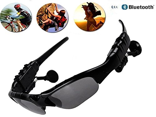 PHEVOS Wireless Bluetooth Sunglasses Headset Headphones For iPhone Samsung HTC Nokia,SONY,Smart Phones or PC Tablets(Stereo Sunglasses)