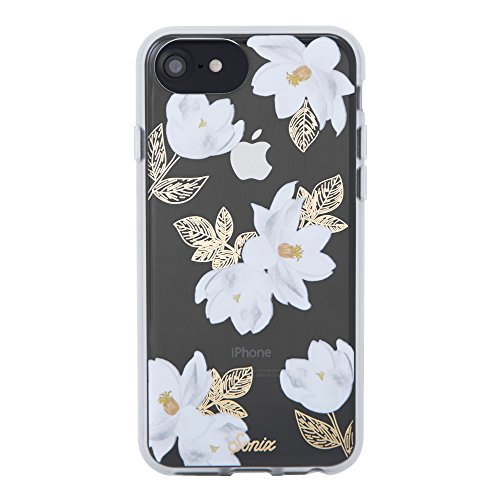 iPhone 8, 7, 6, Sonix Oleander (white flowers) Cell Phone Case [Military Drop Test Certified] Protective Clear Case for Apple iPhone 6, iPhone 6s, iPhone 7, iPhone 8
