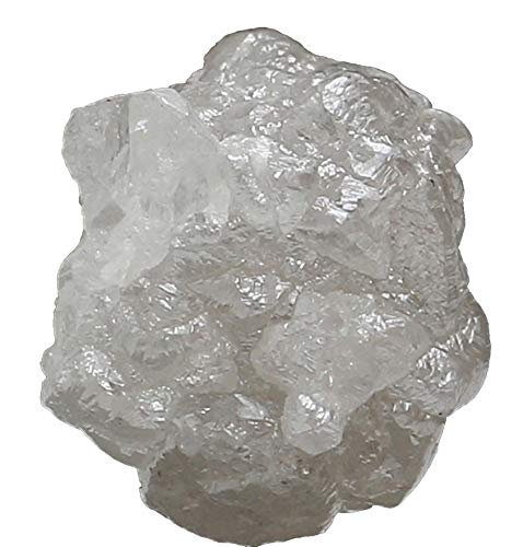 Natural Loose Diamonds Raw Rough Silver Gray I3 Clarity 1 Pcs 1.50+ Carat Q96