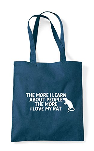 Lover Tote More Person People About Petrol Pets I Bag My Funny Love The Learn Shopper Rat Animal AdwvqvO