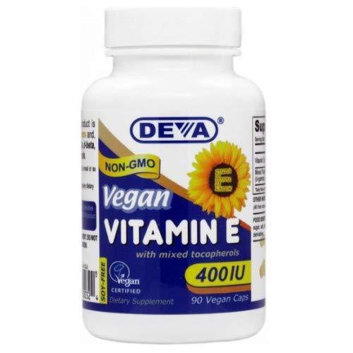 Deva Vegan Vitamins Vit E 400Iu Mixed Tocop. 90 Vcap