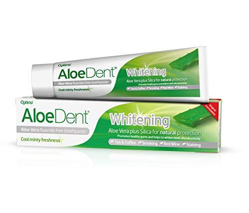 (AloeDent Whitening 100 ml Aloe Vera Plus Silica Fluoride-Free Toothpaste - Pack of)