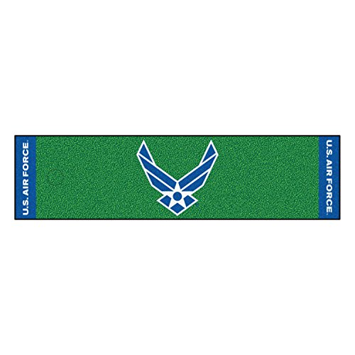 Fanmats Home Indoor sports Team Logo AIR FORCE Putting Green Runner Mat 18
