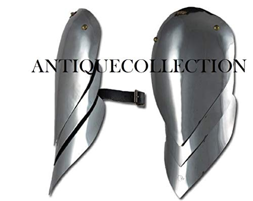 LARP Steel Pauldrons Shoulder Armor Medieval Knight Warrior -