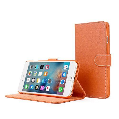 Snugg Leather Wallet iPhone Orange