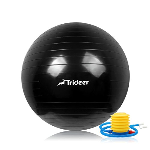 Trideer yoga ball exercise ball anti burst extra thick heavy duty ball chair birthing ball - Stability ball for office ...