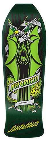 Santa Cruz Skateboards Jeff Grosso Demon Reissue Skateboard Deck - Green Metallic - 9.98