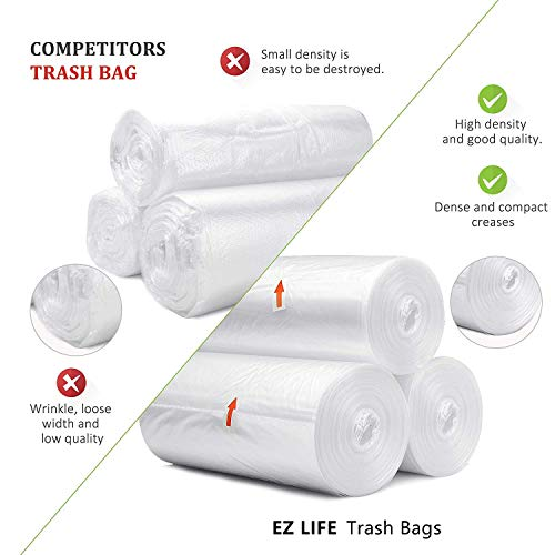 Small Trash Bags Kitchen Garbage Bags 4 Gallon Clear Trash Bags