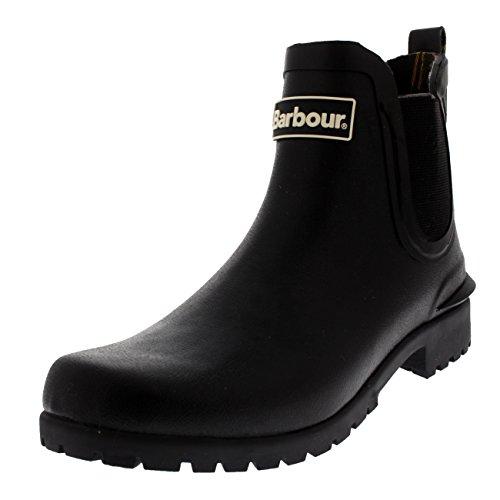 Barbour Womens Wilton Snow Wellingtons Chelsea Rubber Waterproof Boots - Black - 5 ()