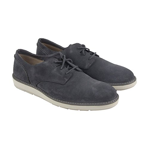CLARKS Men's Fayeman Lace Dark Grey Suede Shoe (Oxford Collection Grey)