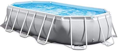 Intex 26796GN - Conjunto de piscina ovalado (503 x 274 x 122 cm ...
