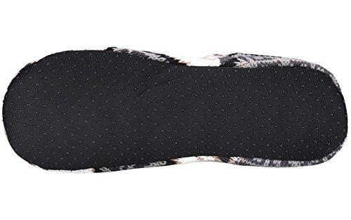 Casstar Unisex-vuxna Akrylfibrer Inomhus Jacquard Tossor Tofflor Med Halkfri Bottensulan Blandad Färg