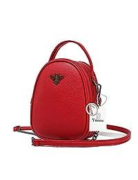 Yoome Small Shoulder Bag for Women Mini Bee Cross Body Purse Girls Designer Backpack Handbag