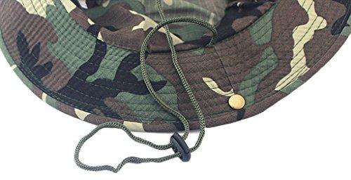 Sawadikaa Outdoor UPF 50+ Boonie Hat Summer Sun Protect Caps Camping Fishing Hats Bucket Hat G