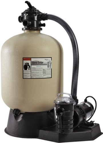 Pentair PNSD0035DD11X0 Sand Dollar Aboveground Filter System with Blow-Molded Tank, 3/4 HP by Pentair