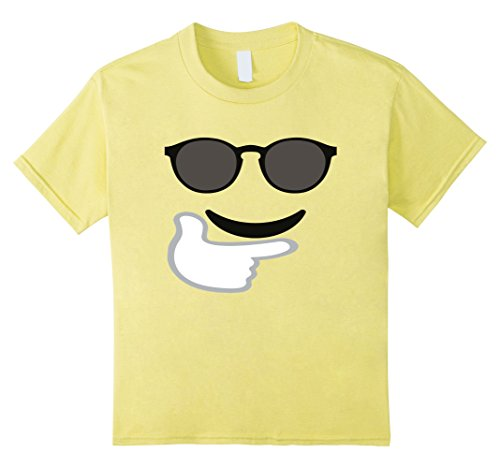 Kids T-Shirt Funny Emoticon Face Happy Sunglasses Big Eyes Cool 6 (Cool 2 People Costumes)