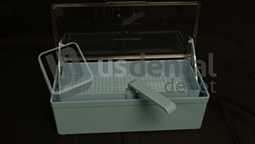 PLASDENT - Germicide Tray Blue with Clear Lid - # 208GST-2 - 001-208GST-2 Us Dental Depot