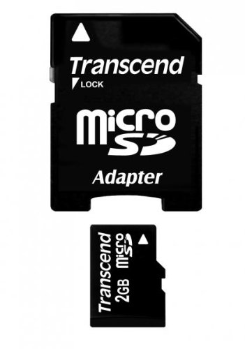 Transcend 2 GB microSD Flash Memory Card TS2GUSD
