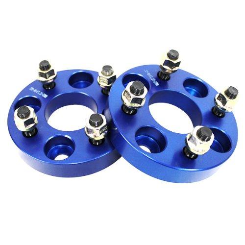 ワイドトレッドスペーサー ブルー 2枚セット PCD100 4H M12×P1.5 厚さ25mm SPB0825 B00IY5HQQ4