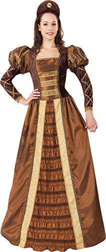 Women's Tudor Renaissance Royal Fancy Dress Party Golden