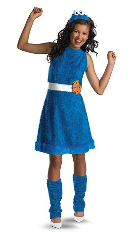 [Sesame Street Cookie Monster Teen Girls Costume, Large/10-12] (Girls Monster Halloween Costumes)