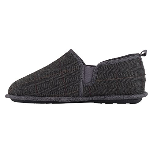 Elk Lamo Plaid Charcoal Slipper Men's 6BHxpwP1q