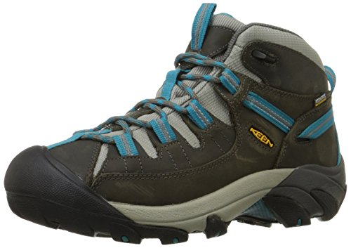 KEEN Women's Targhee II Mid Waterproof Hiking Boot,Gargoyle/Caribbean Sea,7.5 M US (Best Hiking In The Caribbean)