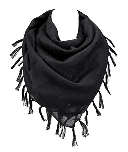 "100% Cotton Military Shemagh Arab Tactical Desert Keffiyeh Scarf Wrap for Women Men 43""x43"""