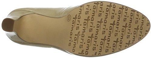 Donna Scarpe Tacco Patent Con cream Tamaris 22426 Beige qOIw5FA
