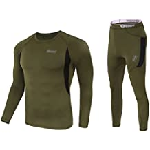 UNIQUEBELLA Men's Thermal Underwear Sets Long Johns Fleece Sweat Quick Drying Thermo