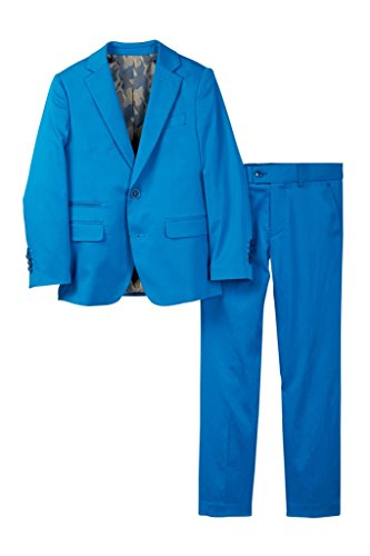 Isaac Mizrahi Boy's ST2078 Stretch Cotton Suit - Cobalt Blue - (Cotton Nylon Suit)