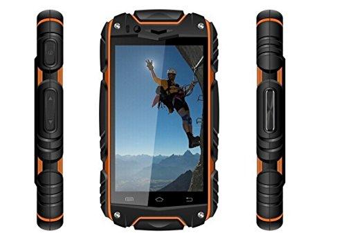 Aokvic ® V8 Staubdicht Stoßfest Smartphone Robuste Entriegelt Smartphone 4.0 Zoll IPS kapazitive Touch Screen Android 4.4 512G RAM / 4G ROM 2G/3G GSM WCDMA Entsperrt Handy (Orange)