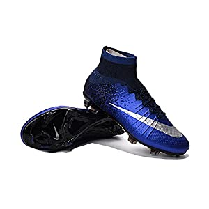 Allenny Shoes Mens Mercurial Superfly CR7 FG Royal Blue Soccer Football Boots Size US7