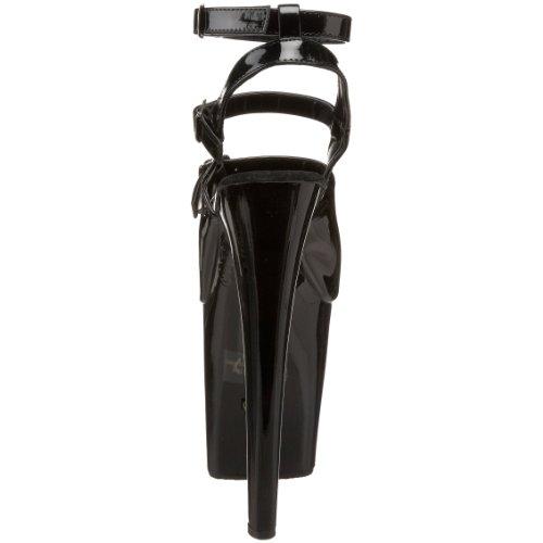 Pleaser Kvinders Xtreme-873 Platform Sandal Sort Patent u0kFPUobH