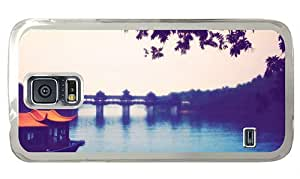 Cheap rubber Samsung S5 cases Chinese township River Bridge landscape PC Transparent for Samsung S5,Samsung Galaxy S5,Samsung i9600