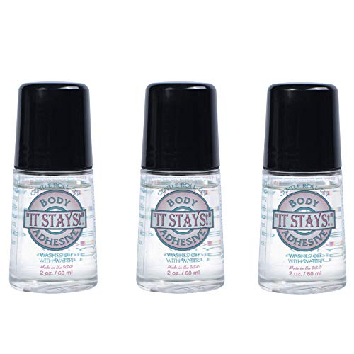 It Stays Roll-On Body Adhesive, 2 fl oz - (3 Pack) Body Glue