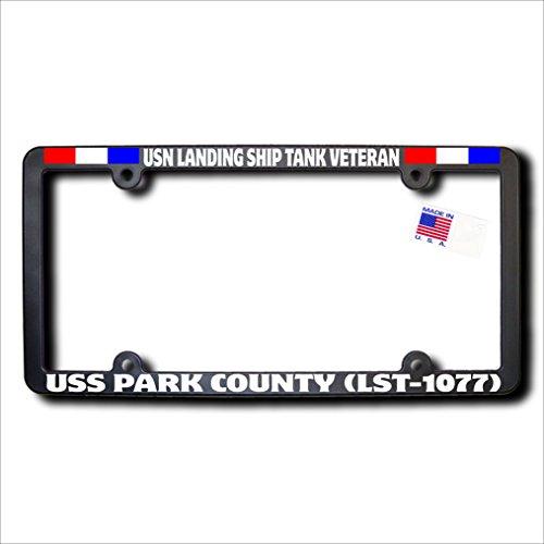 USN Landing Ship Tank Vet USS PARK COUNTY (LST-1077) REFL w/Ribbons Frame -  James E. Reid Design, LSTVRR-129
