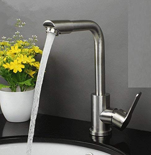 Oudan Sink Taps redating stainless steel Hot and cold Basin Brushed bathroom