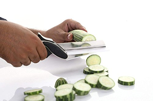 K Kudos Enterprise Clever Cutter 2-in-1 Stainless Food Chopper - Replace Your Kitchen Knives and Cutting Boards (1 Pc) - (Assorted)