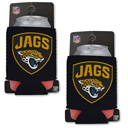 Official National Football League Fan Shop Authentic 2-Pack NFL Insulated 12 oz Can Cooler (Jacksonville - Hat Beer Nfl