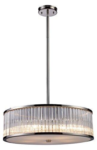 (Braxton 5 Light Pendant in Polished Nickel)