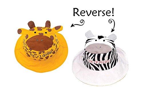 Galleon - FlapJackKids Kids  Sun Hat - Reversible - Giraffe Zebra Medium  (2-4 Yrs) d86c65d8ed2a
